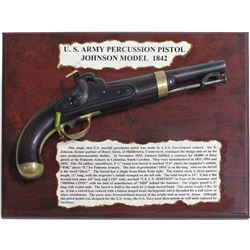 U.S. ARMY JOHNSON MODEL 1842 PERCUSSION PISTOL