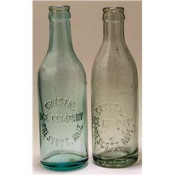 Two Crystal Ice Company Sodas
