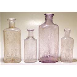 Four Prescott Drug Bottles