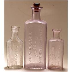 Three Tucson Drug Bottles