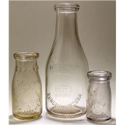 Two Arizona Milk Bottles and One Unknown