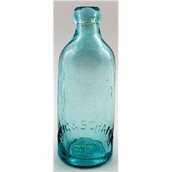 Breig & Schafer Pictorial Soda Bottle