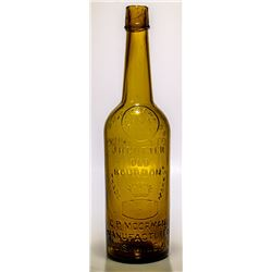 C.P. Moorman Cutter, A No. 1 Rare Whiskey Bottle