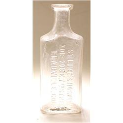 St. Luke's Hospital Drug Bottle