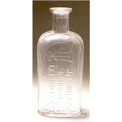 Pictorial Miller Drug Bottle