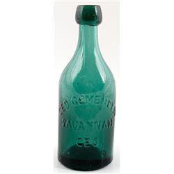 GEO. GEMENDEN Pictorial Soda Bottle