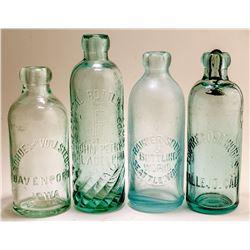 Four Hutch Soda Bottles