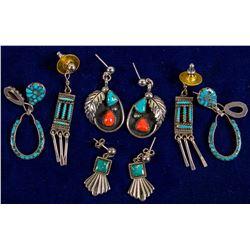 4 Pair Navajo Earrings