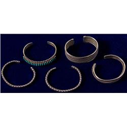 Five Silver Bracelets