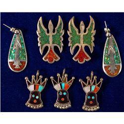 4 Pendants and 1 Pair Earrings