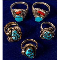 Five Navajo Rings