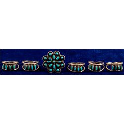 Six Zuni Petit Point Rings