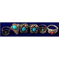 Six Navajo Rings