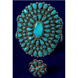 Zuni Turquoise Bracelet and Ring