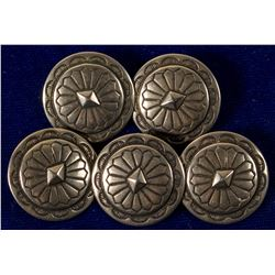 5 Nickel Concho Buttons