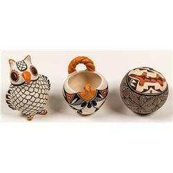 3 Acoma Pottery Pieces
