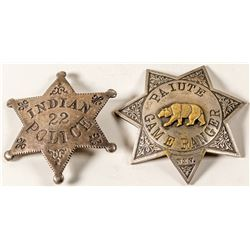 Two Antique Indian Badges