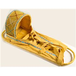 Yellow Cradleboard w/ Beading