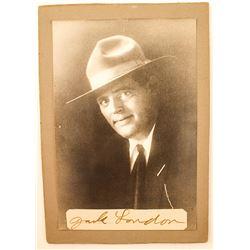 Photo/Autograph of Jack London