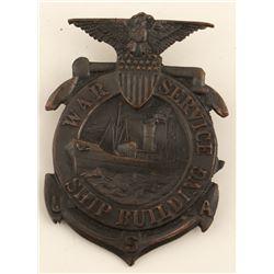 War Service / Ship Building Badge