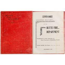 Butte Fire Department Book
