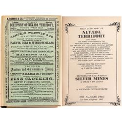 Reprint of First Directory of Nevada Territory