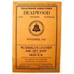 Deadwood Telephone Directory