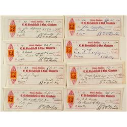 Hershfield & Bro. Bankers Checks from C. C. Huntley