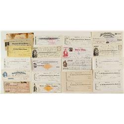 Virginia City Check Collection (incl. Rare RNs)