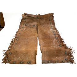 Custom Chaps Made by an Army Saddler