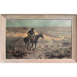 """C. M. Russell Print of """"The Wagon Boss"""""""