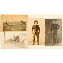 Three Cowboy Real Photo Postcards