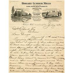 Hobart Lumber Mills Pictorial Billhead