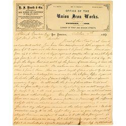 Union Iron Works Billhead