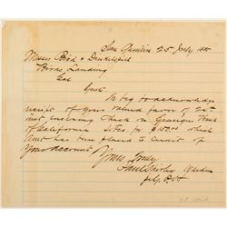 San Quentin Letter Signed by warden in 1885