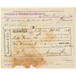 Yerington Signed V&T  for 400 Cords of Pine Wood