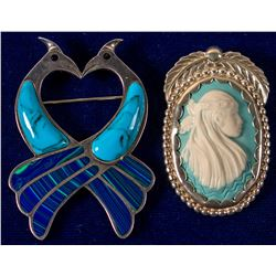 Two Beautiful Brooches