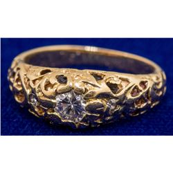 Filigree Gold and Diamond Ring