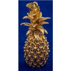 Dimensional Gold Pineapple Pendant