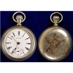 Gold Inlaid Cowboy Pocket Watch