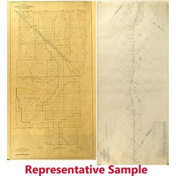 Southern Pacific RR Maps of Mojave to Owenyo