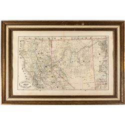 Map of Northern California and Nevada