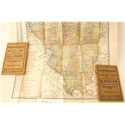 Two Rand-McNally Pocket Maps