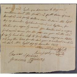 Kentucky Slavery Transaction Document