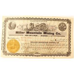 Miller Mountain Mining Co. Stock Certificate