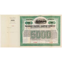 Western Pacific railway $5000 Bond Specimen