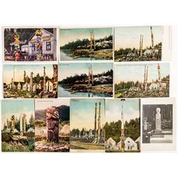Totem Pole Photo Post Cards