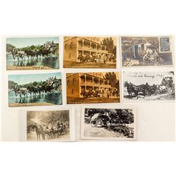 Eight Wells Fargo Postcards
