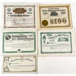 Six Stock Certificates