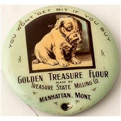 Golden Treasure Flour Pinback